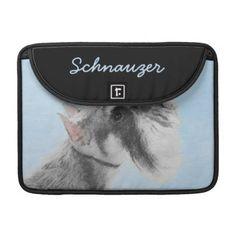 #Schnauzer 3 sleeve for MacBook pro - #miniature #schnauzer #puppy #schnauzers #dog #dogs #pet #pets #cute #miniatureschnauzer