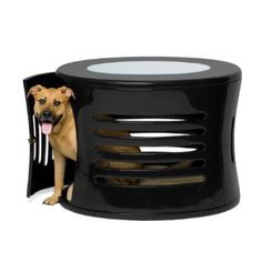 Designer Dog Crate End Table