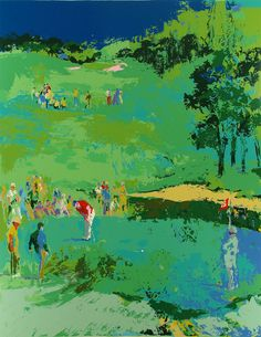 LeRoy Neiman--  The golf course  - NO:1860    Size: 24X32 inch, and if you need any other size, please cotact us,Thanks.    Frame or