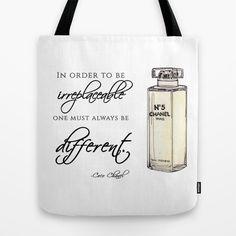 No.5 Quote Tote Bag