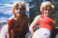 Fotos inéditas de Marilyn Monroe no auge dos 27 anos.