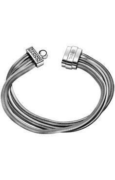 Breil Breilogy TJ1510. Bilux steel bracelet with white crystals. #breil #normcore