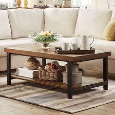 HomeVance Drake Coffee Table, Brown