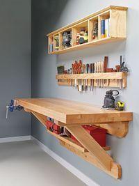 Wall-Mounted Workbench   Woodsmith Plans #WoodworkingPlansWorkbench