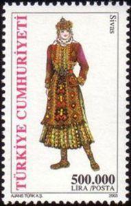 Turkey Stamp 2003 - Woman from Sivas