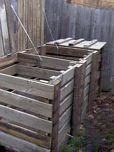DIY compost bins: this is closest to the idea I had in my head given the materials we already have at the house.