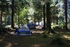 Volunteer camp area.