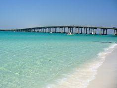 Destin Bridge.  Destin beaches are heaven on earth