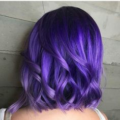 ideas hair color short balayage salons for 2019 Bright Purple Hair, Hair Color Purple, Hair Dye Colors, Cool Hair Color, Short Purple Hair, Bright Hair Colors, Violet Hair, Lilac Hair, Ombre Hair