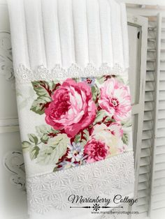 French pink roses Luxury display towel