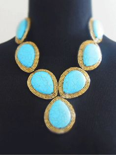Maximina Turquoise - Jewelry - Cayetano Legacy Collection - Hybrid Her Trunk Show