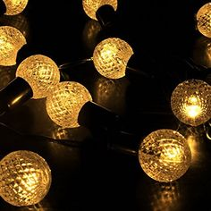 Mt tech outdoor solar string lights for garden patio lawn christmas elight warm white globe string lights solar powered 30 led christmas lights for patio garden holiday mozeypictures Images