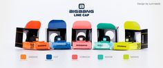 BIG BANG line caps by Sumneeds...if only these were real hats!
