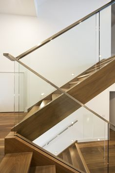 Glass Balustrade for Stairs . Glass Balustrade for Stairs . Glass Staircase and Void Balustrade Stair Handrail Wall Mounted, Glass Stair Balustrade, Modern Stair Railing, Staircase Handrail, Steel Handrail, Balustrades, Steel Stairs, Modern Stairs, Railing Design