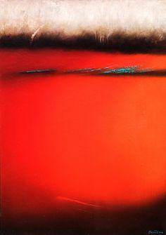 "Saatchi Online Artist: Jill Bonnaud; Oil, 2007, Painting ""Interior Landscape 1"""