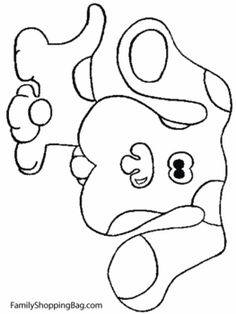 Blues Clues Dog, Blues Clues, Coloring Pages - Free Printable Ideas from Family Shoppingbag.com