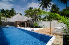 Honeymoon pool villa at Kuramathi Island Resort Maldives #voyagewave #maldivesholidays→ www.voyagewave.com
