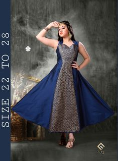 Innovative Navy Blue Designer Kid's Gown Work :-Combination of Ocean Navy Blue Long Sided based with Black Printed Patched Kid's Designer Kid's Gown Fabric -Silk,Jacquard Paired with the matching bottom and dupatta. Gowns For Girls, Girls Dresses, Kids Salwar Kameez, Kids Gown, Pakistani Dress Design, Blue Gown, Gowns Online, Designer Gowns, Lehenga Choli