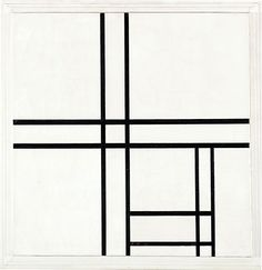 "Mondrian ""Composition in Black and White with Double Lines"""