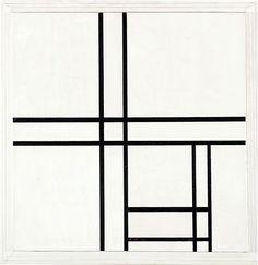 """""""Abstrakte Malerei ist nicht so sehr eine anti-realistische Bewegung als vielmehr eine realistische Enthüllung der herrschenden Abstraktheit."""" Siegfried Kracauer (Theorie des Films) - Mondrian """"Composition in Black and White with Double Lines"""""""