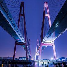 名港西大橋  #名港トリトン #名港西大橋 #橋 #ブリッジ #夜景 #night_shooterz #nightbridge #nightview #nightphotography #japan_night_view #wu_japan #icu_japan #yakei_luv #lovers_nippon #jp_gallery by onisa023