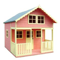 This Shire Lodge Wooden Playhouse is a gorgeous and generously-sized playhouse that will provide a fun and imaginative playroom for your little one and his/her friends. With a cleverly designed mezzanine, it is ideal for occasional sleepover.