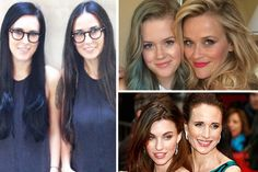 Rumer Willis com Demi Moore, Ava Phillippe com Reese Witherspoon e Andie MacDowell com Rainey Qualley (Foto: Getty Images e Instagram)