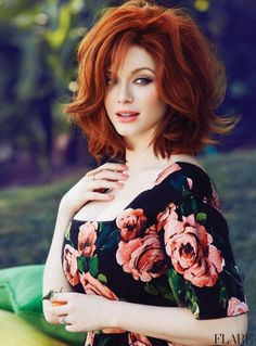 Hair Color | Christina Hendricks' Auburn Locks #hairstyles #pmtssafavi #paul #mitchell #schools #redhead #red #head #haircolor