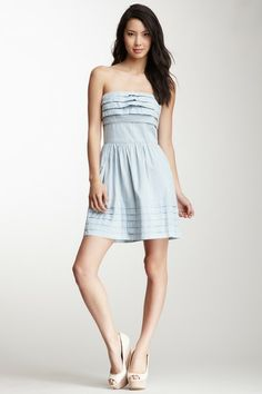 Can't beat just a nice 100% cotton chambray dress for summer.  Take a whit blouse & tie it at the waist, and you have a totally different look! --Jack Emiley Strapless Chambray Dress by BB Dakota & Jack on @HauteLook