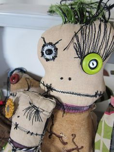 Monster Rag Dolls by Andrew Drydahl (Twisted Root Studio)