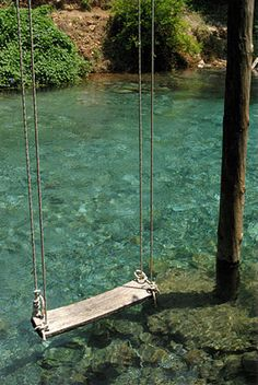 swing over water...i would love to just spend a day swinging and thinking(: