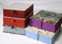 Diy And Crafts, Paper Crafts, Creative Box, Print Box, Fabric Boxes, Handmade Books, Diy Box, Diy Candles, Box Packaging