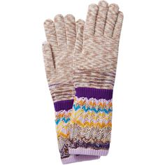 Missoni Zigzag Print Wool Gloves (1.004.845 IDR) ❤ liked on Polyvore featuring accessories, gloves, multicolor, woolen gloves, wool gloves, missoni gloves and missoni