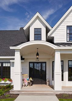 What Colour Front Door Goes With White Windows.What Your Front Door Color Says About Your Home Sina . The Best Exterior Trim Colours With Brick; Front Door And Window Trim Color Selection . Black Windows Exterior, White Exterior Houses, Modern Farmhouse Exterior, Dream House Exterior, Ranch Exterior, Black Shutters, Farmhouse Front, Black Exterior, House Exteriors