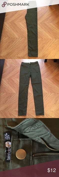 Olive Tube Jeans 💚 Casual every day olive jeans, perfect for the fall season! Never worn, mint condition, new with tags Boohoo Jeans Skinny