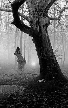 "Eerie"" Creepy, Surreal, Strange, Macabre, After the rain: Frank T Zumbachs Dark Photography, Black And White Photography, Creepy Photography, Photo Halloween, Images Gif, Arte Horror, Dark Places, Gothic Art, Dark Beauty"