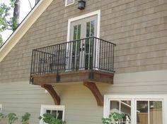 small balcony off master
