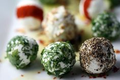 herbed and spiced goat cheese balls