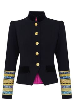 Welcome to La Condesa Military Inspired Fashion, Military Fashion, Blazers, Structured Fashion, Big Girl Clothes, Kente Styles, Military Style Jackets, Cute Jackets, Jacket Style