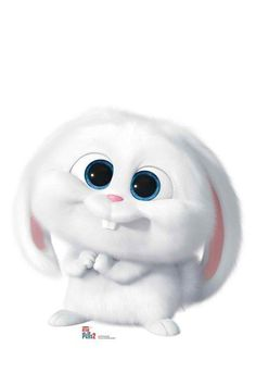 Snowball from The Secret Life Of Pets 2 Cardboard Cutout / Standup - Tiere Cartoon Wallpaper Iphone, Disney Phone Wallpaper, Cute Cartoon Wallpapers, Cute Wallpaper Backgrounds, Cute Bunny Cartoon, Cute Cartoon Pictures, Cartoon Pics, Cartoon Rabbit, Pet Branding