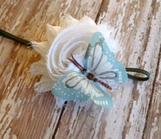 Beautiful Bloom Flower Headband Marigold by Stephsjewels4ella, $6.00