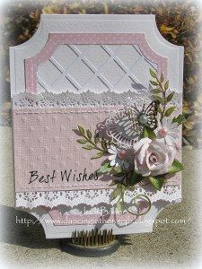 Beautiful Best Wishes Die Cut Card: Use your nesting dies in innovative ways with this handmade greeting card tutorial.