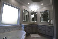 Master Bathroom Renovation by @blackdoorhomeco