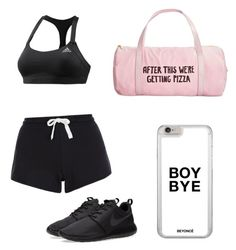 """workout fun"" by mk4days on Polyvore featuring interior, interiors, interior design, home, home decor, interior decorating, adidas, New Look, NIKE and ban.do"