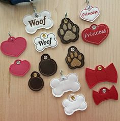 In the Hoop Pet Tags Set Machine Embroidery by EmbroideryGarden