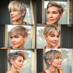 Today we have the most stylish 86 Cute Short Pixie Haircuts. Pixie haircut, of course, offers a lot of options for the hair of the ladies'… Continue Reading → Face Slimming Hairstyles, Visage Plus Mince, Blonde Pixie, Pixie Bangs, Short Pixie Haircuts, Pixie Haircut Styles, Short Wavy Pixie, Messy Pixie Haircut, Pixie Cut Styles