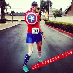 Captain America running outfit!  Runners Assemble!