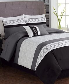 CLOSEOUT! Taylor 5 Piece Embroidered Comforter Sets Now $51.97 - 66.97
