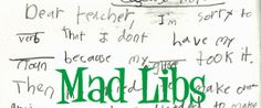 Make your own Mad Libs! #writing #kids