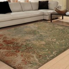 would look great in the sunroom.   Vivacious Collection Goddess Multi Area Rug (7'10 x 10'10) - Overstock Shopping - Great Deals on Carolina Weavers 7x9 - 10x14 Rugs